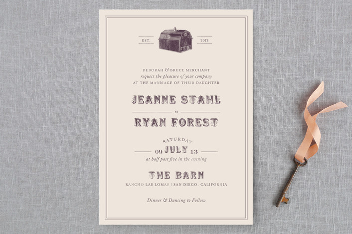 8 Lovely Country Wedding Invitations | Indie Wedding Guide