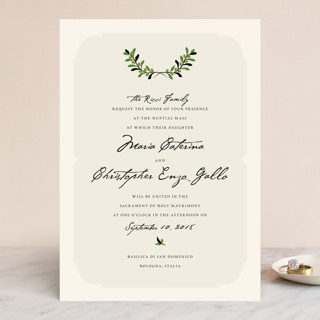 Italiano Wedding Invitations