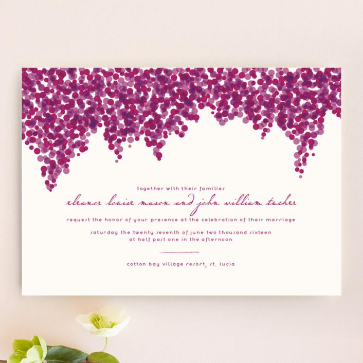 Свадебные приглашения Бугенвиль