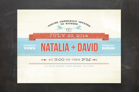 Festival Wedding Invitations This artist gives her design a vintage