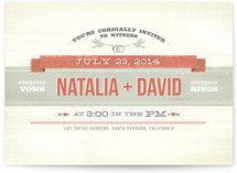 Festival Wedding Invitations