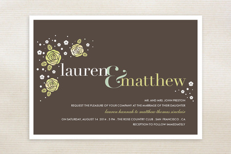 Rosettes Wedding Invitations