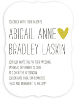 Passing Notes Wedding Invitations