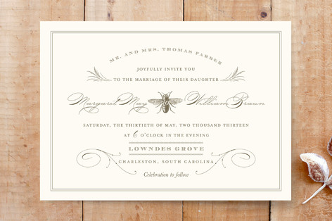 Honey Bee Wedding Invitations By Oscar Emma Minted