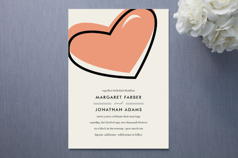 Pop Heart Wedding Invitations