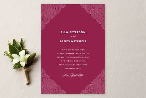 High Brow Wedding Invitations