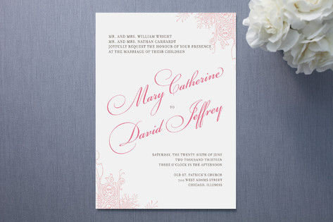 Float + Amour Wedding Invitations