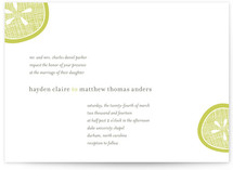 Lemon Drop Wedding Invitations