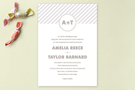 MODERN MONOGRAM Wedding Invitations