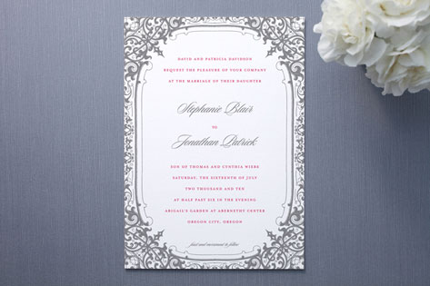 Stephanie Wedding Invitations