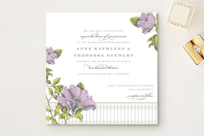 Свадебные приглашения Flore