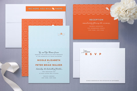 Scallop Wedding Invitations by Cheree Berry Paper