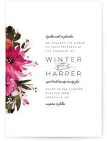 Peeking Florals Wedding Invitations