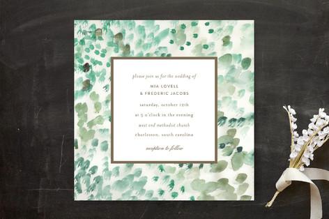 Painted Wedding Invitations