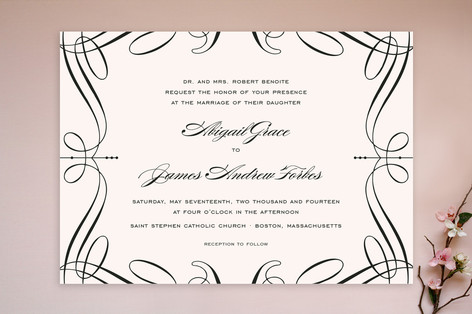 black and white wedding invitations. Filed under Black and White