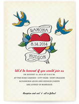 Retro Tattoo Wedding Invitations