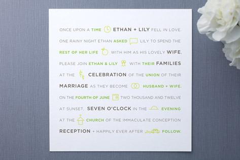 fun modern Wedding Invitations