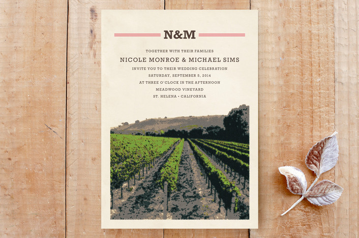 winery wedding invitations - Winery Wedding Invitations
