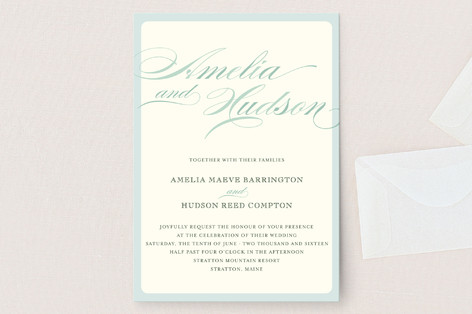 Float + Spring Shades Wedding Invitations