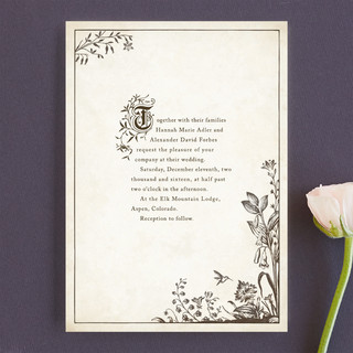 How gorgeous are these storybook wedding invitations