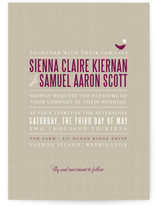 SWEET LINEN Wedding Invitations
