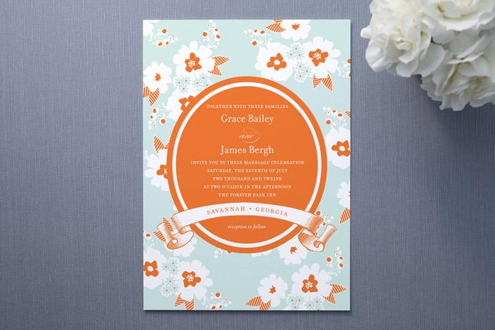 Sweet Summer Wedding Invitations