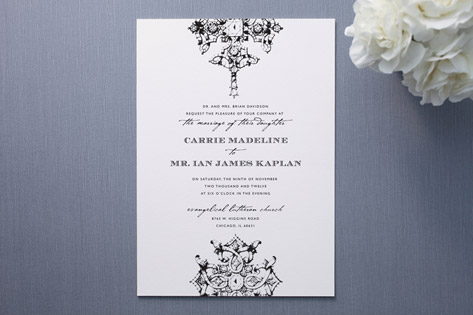 Black and White Themed Wedding Invitations