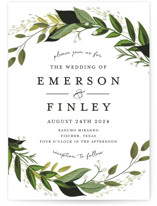 Vines of Green Wedding Invitations