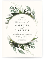 Natures Greens Wedding Invitations