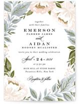 Peony Floral Frame Wedding Invitations