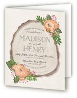 Rustic Wooded Romance Four-Panel Wedding Invitations