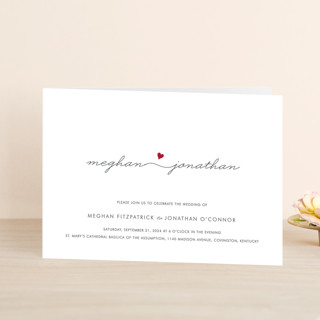 Love Connection Four-Panel Wedding Invitations