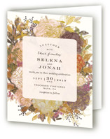 Floral Feast Four-Panel Wedding Invitations