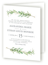Simple Sprigs Four-Panel Wedding Invitations