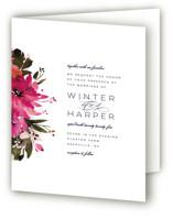 Peeking Florals Four-Panel Wedding Invitations