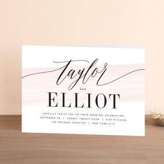Effervescent Four-Panel Wedding Invitations