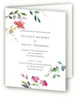 Spring Wildflowers Four-Panel Wedding Invitations