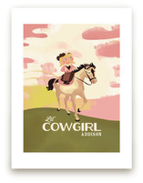 Lil' Cowgirl Art Prints