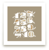 Vining Numerals Art Prints