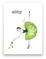 Green Ballerina Art Prints