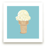 Ice Cream Monogram Art Prints