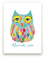 Watercolor Rainbow Owl by Pip Gerard