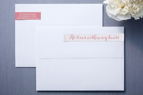 In My Heart Skinnywrap Address Labels