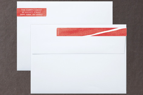 Watercolor Warm Wishes Skinnywrap™ Address Labels