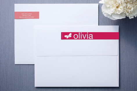 Coral Mimosa Skinnywrap™ Address Labels