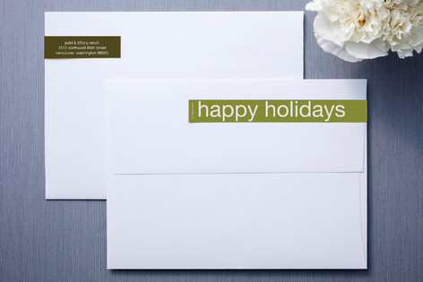 Olive and Forest Skinny-Wrap Address Labels