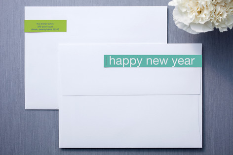 Turquoise and Lime Skinnywrap™ Address Labels