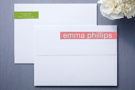 Pink and Lime Skinnywrap™ Address Labels