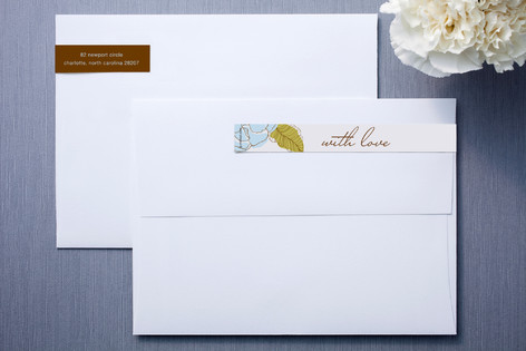 White and Chocolate Skinnywrap Address Labels
