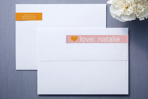 Pink and Orange Skinnywrap™ Address Labels